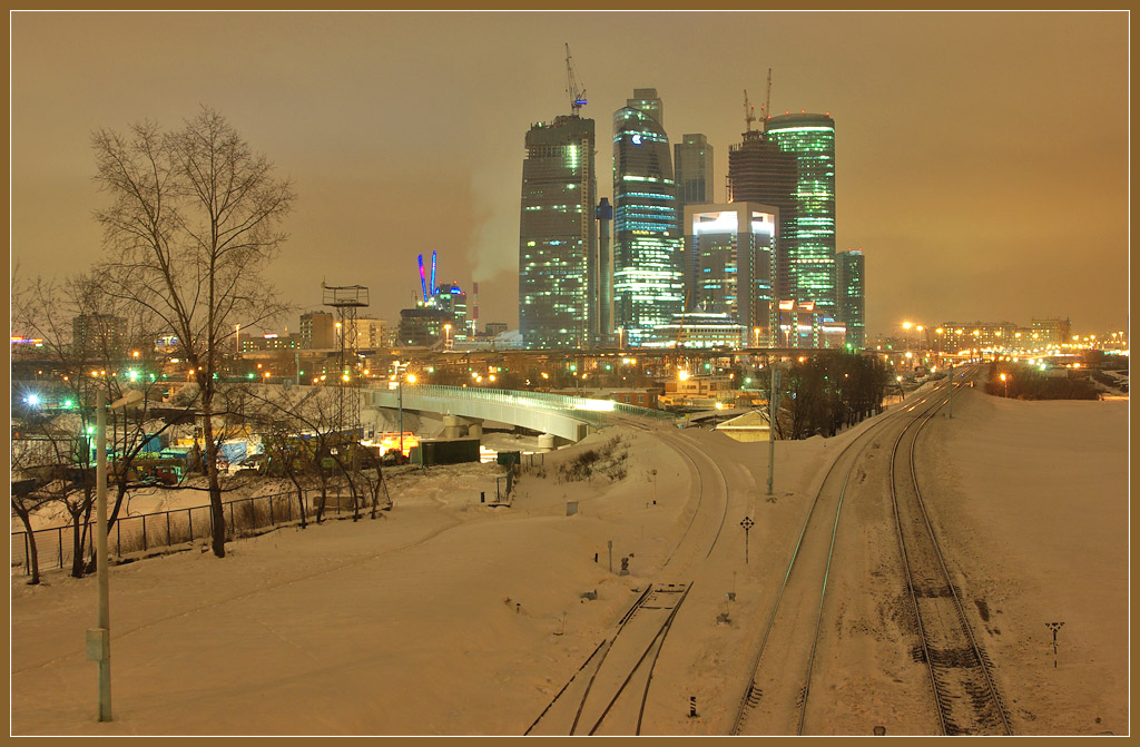 """photo """"Moscow City"""" tags: city, landscape, night"""