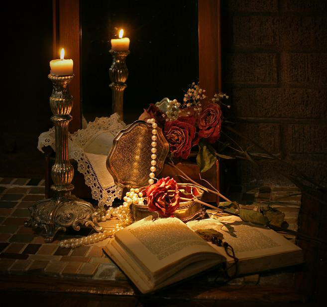 """фото """"Чтение при свечах"""" метки: натюрморт,"""
