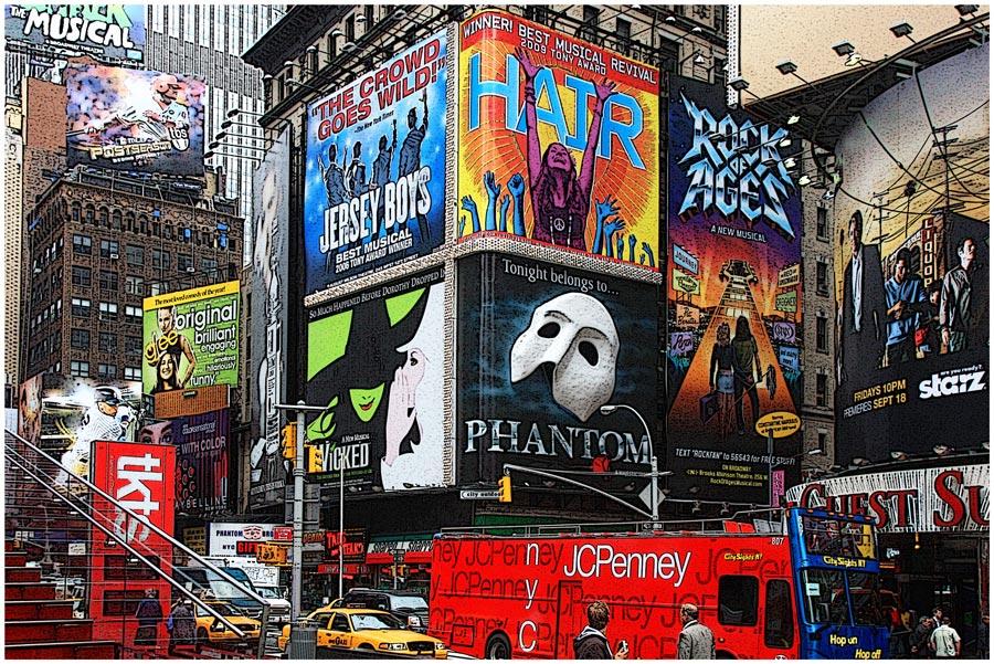 """фото """"Бродвейские мюзиклы"""" метки: город, путешествия, Северная Америка"""