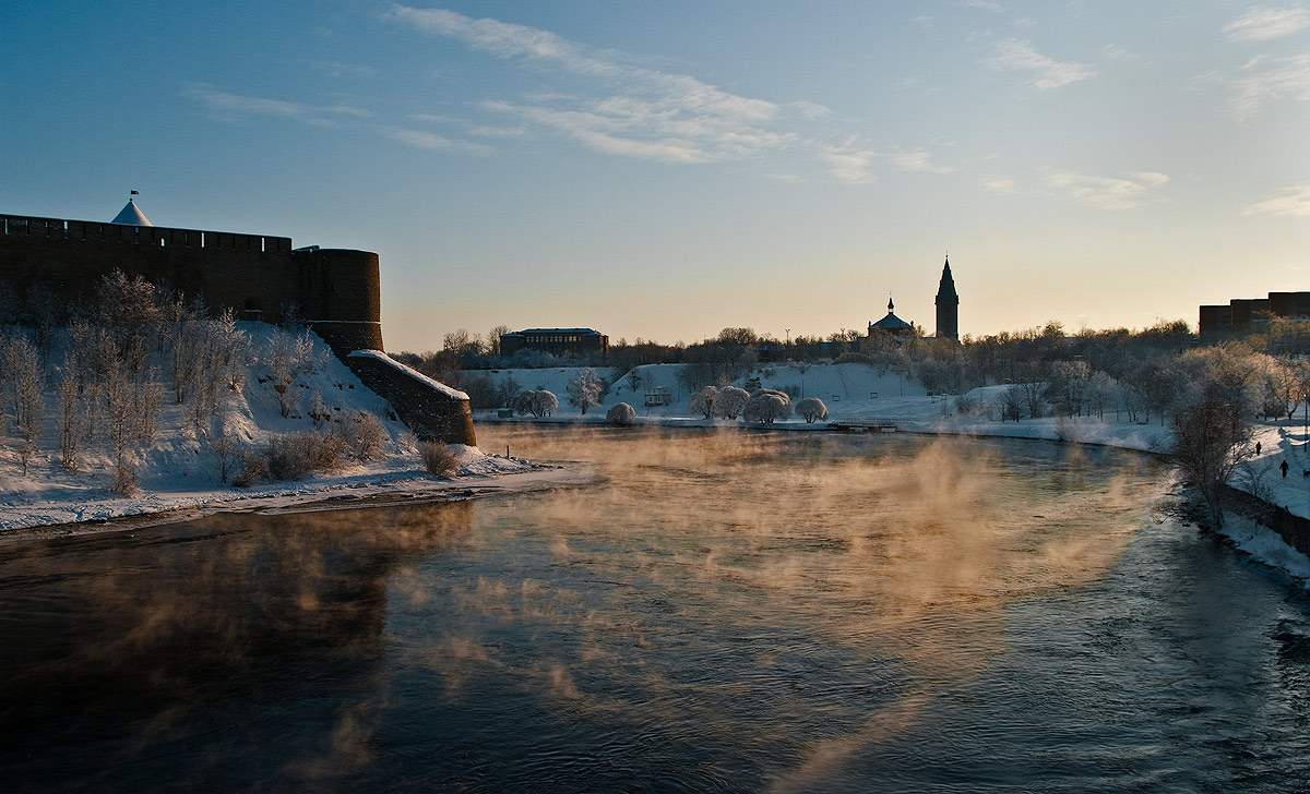 "фото ""дыхание реки"" метки: пейзаж, зима"
