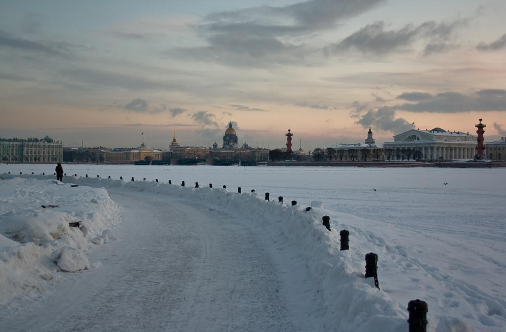 "фото ""Зимний вечер. Нева"" метки: архитектура, пейзаж, зима"