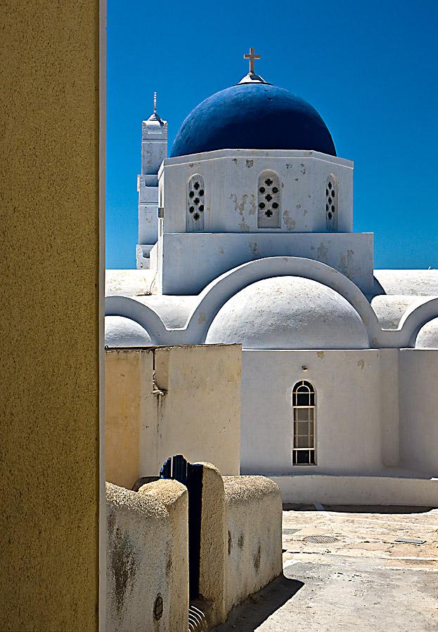 """фото """"Church, Fira"""" метки: путешествия, Европа"""
