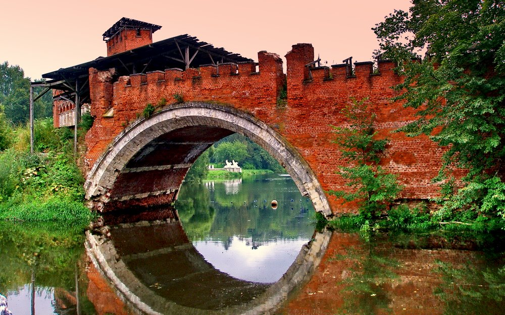 "фото ""нежный закат на развалинах моста."" метки: архитектура, путешествия, пейзаж,"