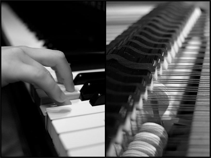 """photo """"making a sound"""" tags: black&white,"""