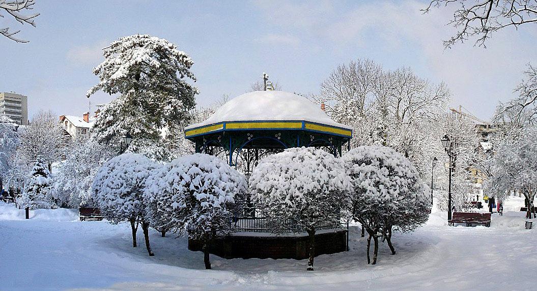 "фото ""В зимнем парке-3"" метки: архитектура, пейзаж, зима"