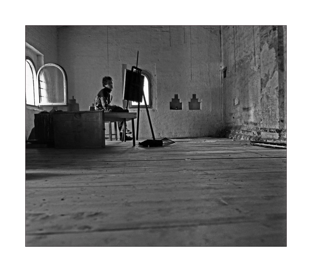 """фото """"О художнике"""" метки: интерьер, черно-белые,"""