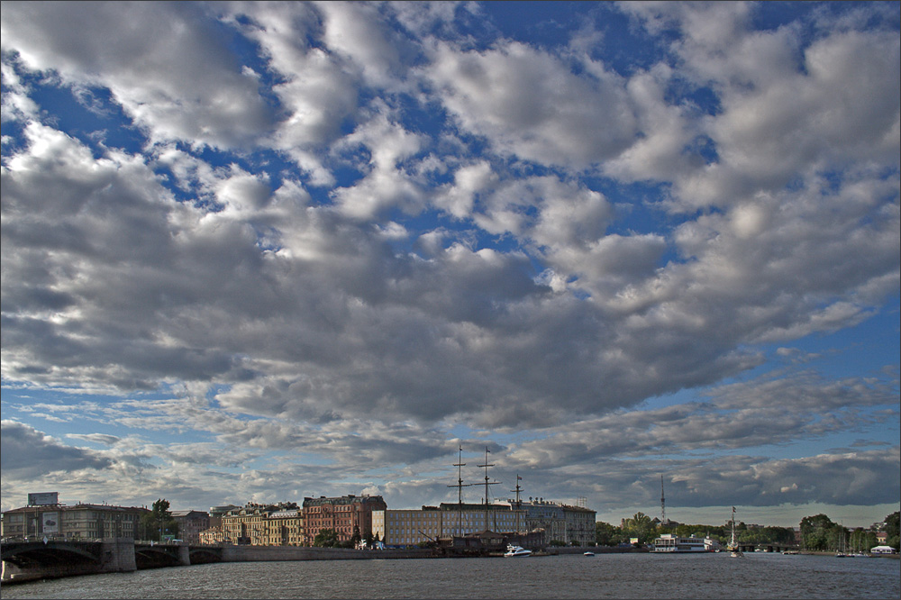 "photo ""city under the blue sky .."" tags: landscape, clouds"