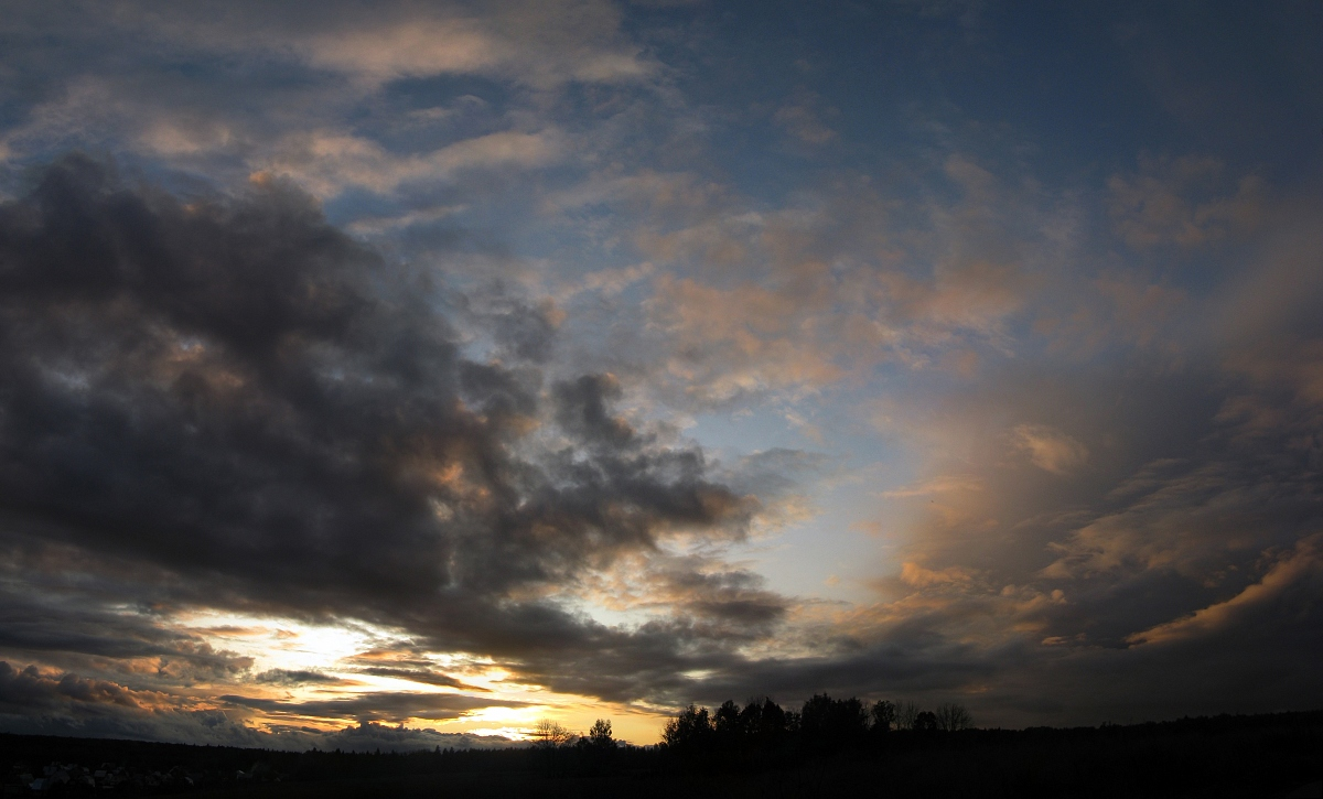 """photo """"One day of September (6)"""" tags: landscape, panoramic, sunset"""