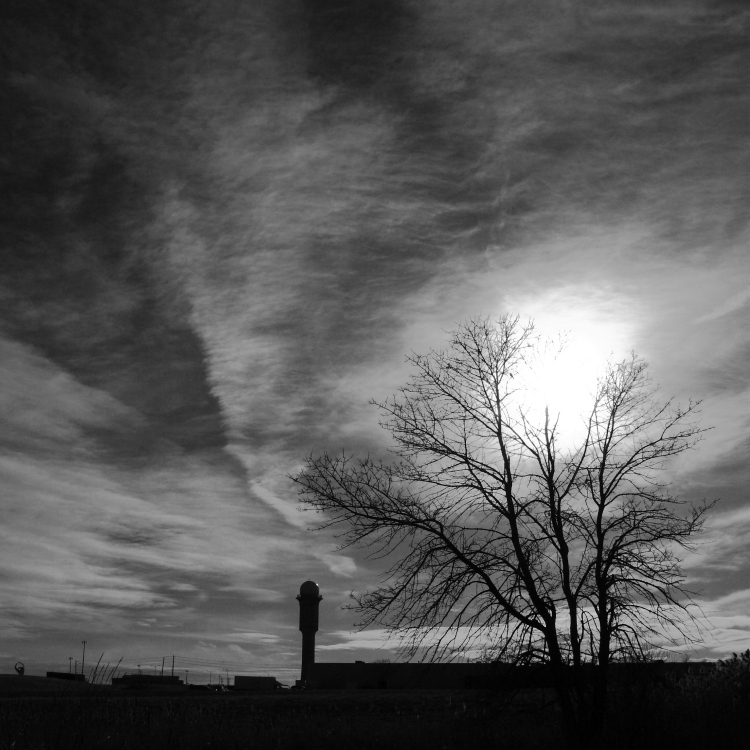 """photo """"The Fire in the Sky"""" tags: landscape, black&white, clouds"""