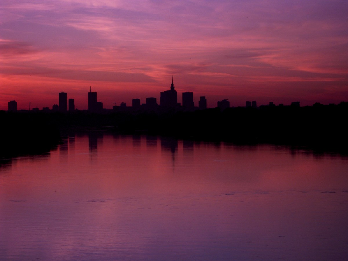 "photo ""Evening in Warsaw"" tags: city,"