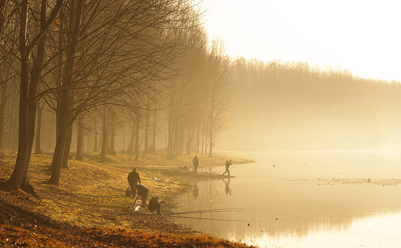 """photo """"Early morning fishing"""" tags: landscape, sunset, water"""