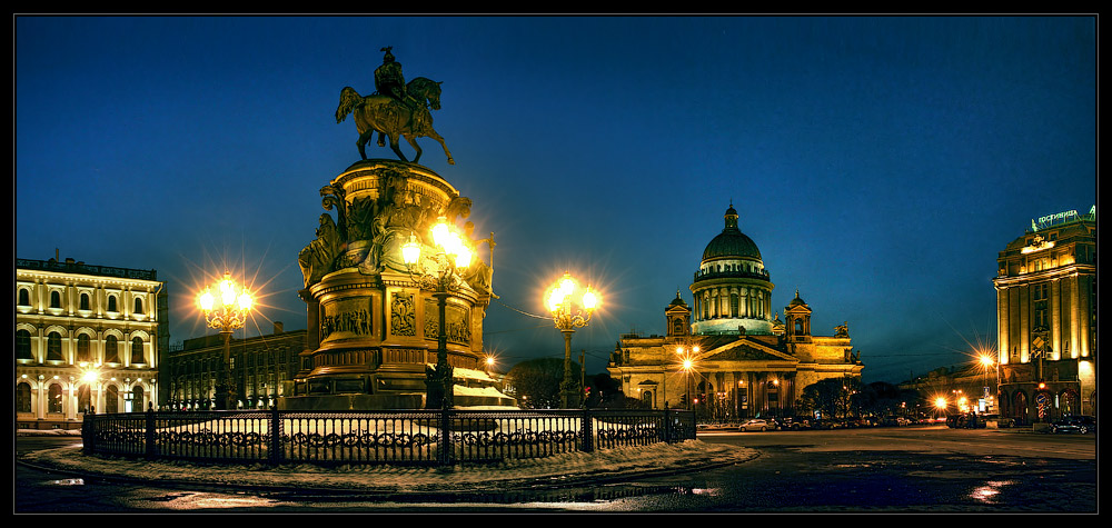 """photo """"St. Isaak square's panorama"""" tags: architecture, panoramic, landscape,"""