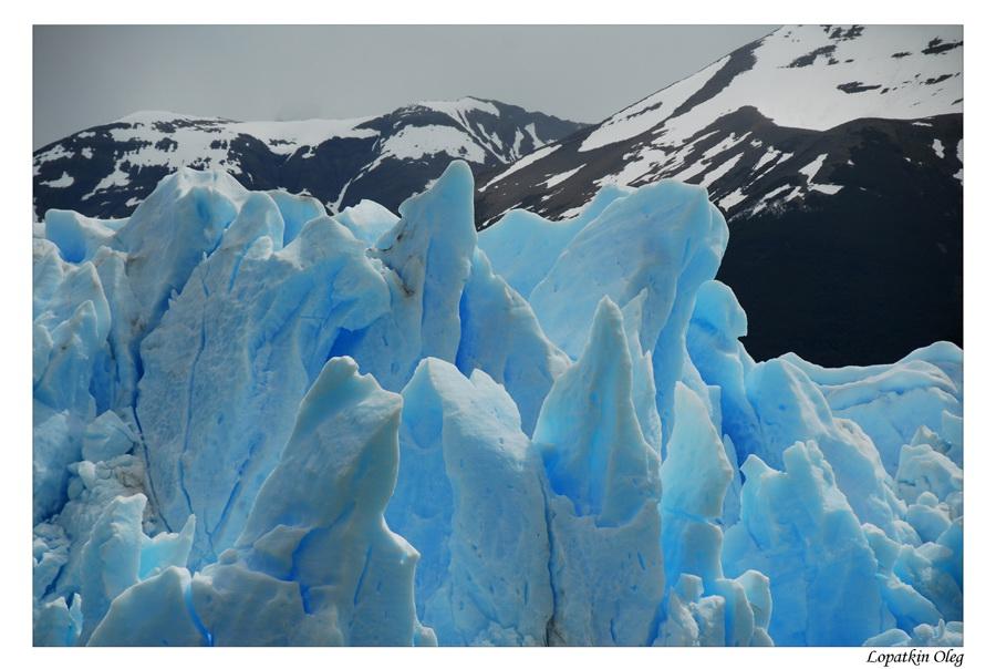 "photo ""blue sky coloure glacier"" tags: travel, South America"