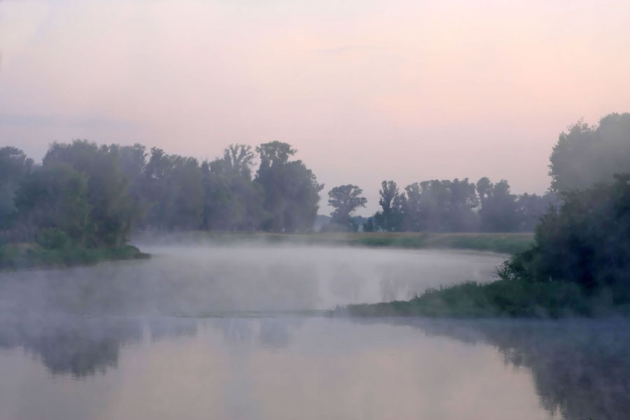 """photo """"morning, nature, river"""" tags: landscape, summer, water"""