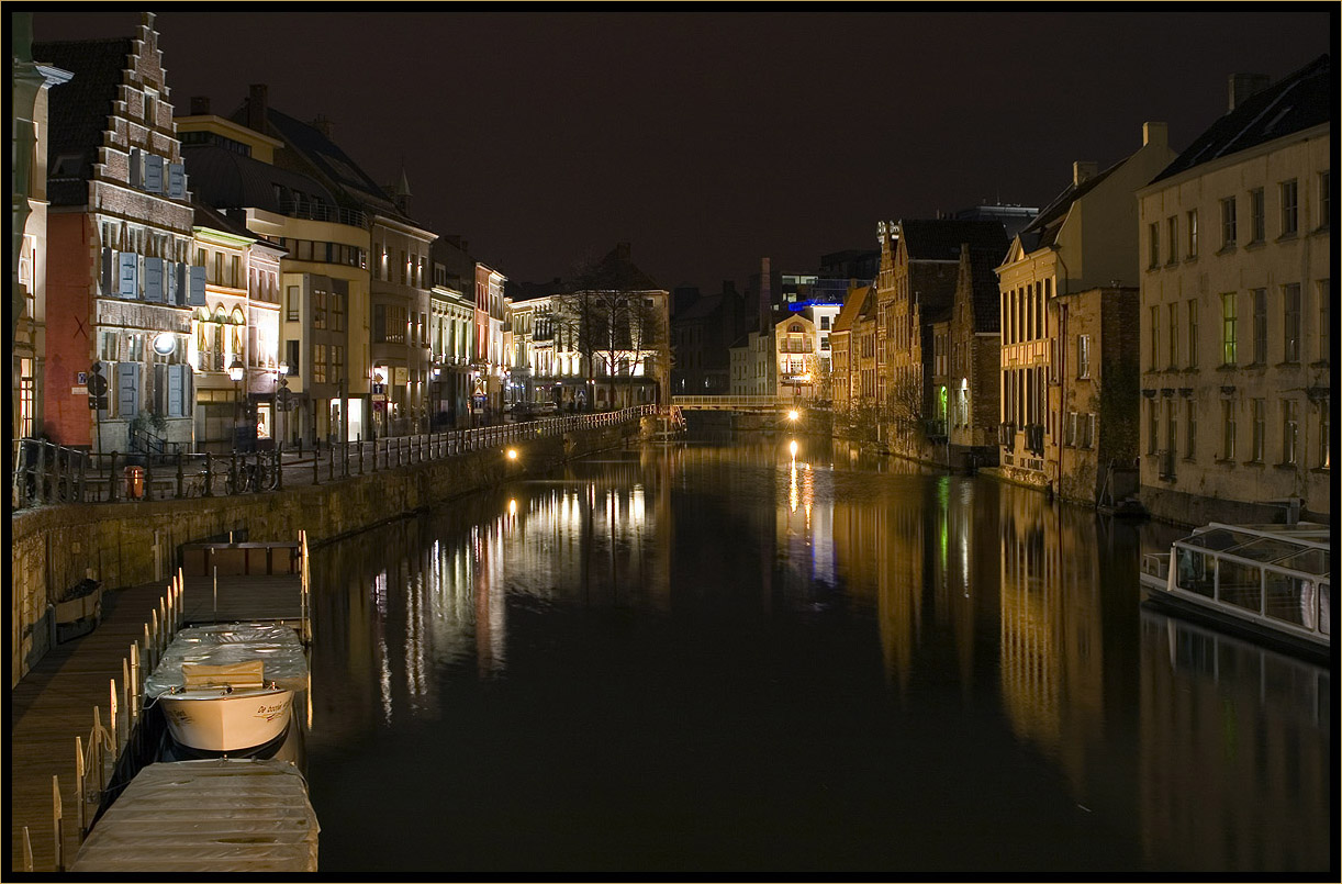 """photo """"Ghent"""" tags: architecture, landscape, water"""