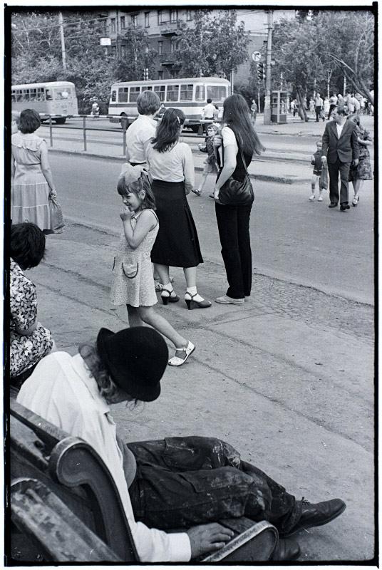 "photo ""Sleeping Drunkard (1983)"" tags: genre, black&white,"
