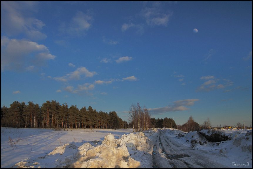"photo ""The road to Pasechno"" tags: landscape, winter"