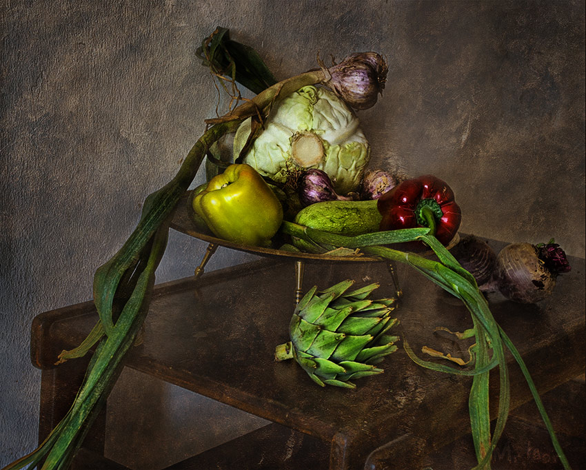 """photo """"Still Life with artichokes and vegetables"""" tags: still life,"""