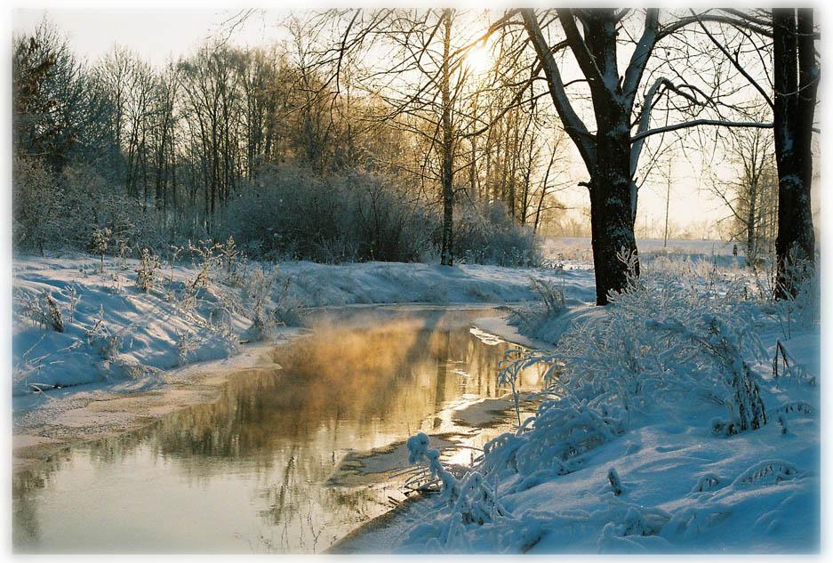 "photo ""Mirojka river"" tags: landscape, winter"