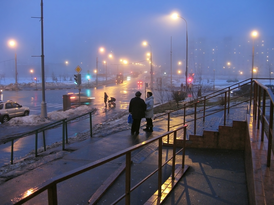 "photo ""Fog in the City (6)"" tags: landscape, city, night"