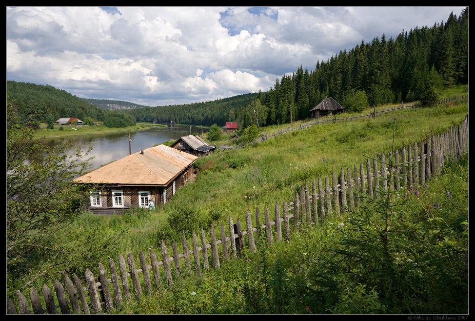 "photo ""Rural etude / 0176_0005"" tags: landscape, forest, summer, village"