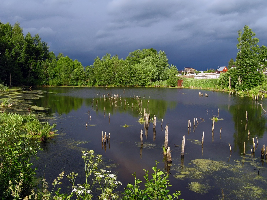 "photo ""Passing by storm"" tags: landscape, summer, water"