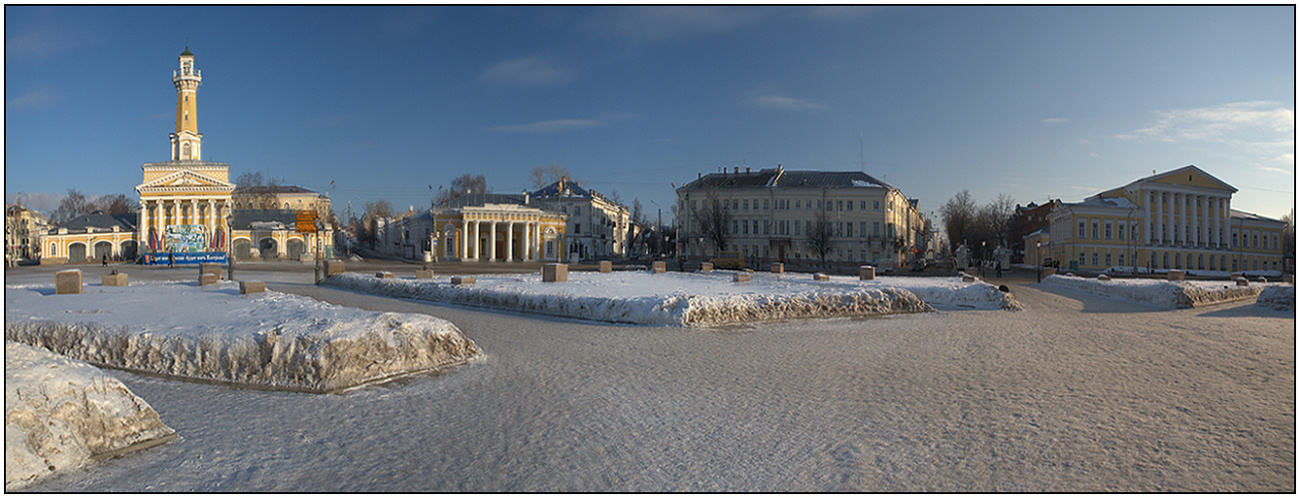 "photo ""The center of Kostroma"" tags: panoramic, travel, Europe"