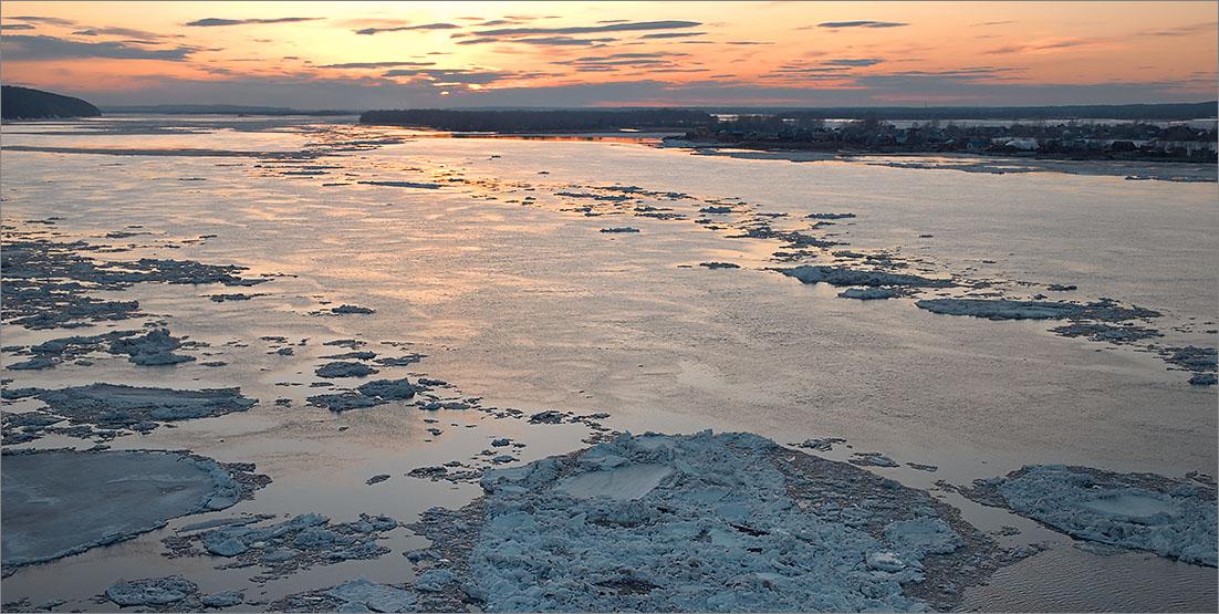 "photo ""Ice drift on Volga"" tags: landscape,"