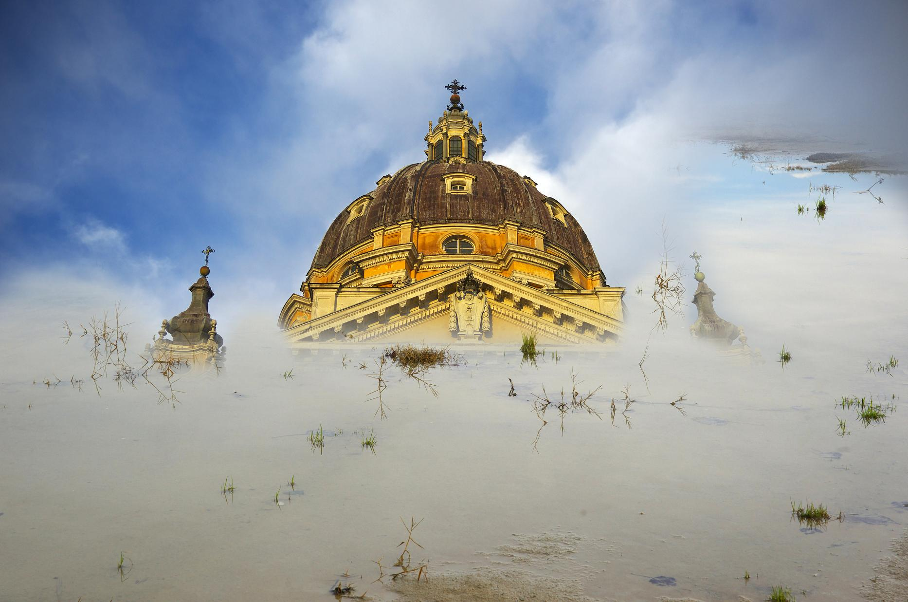 "photo ""la cathedral engloutie"" tags: landscape, montage,"