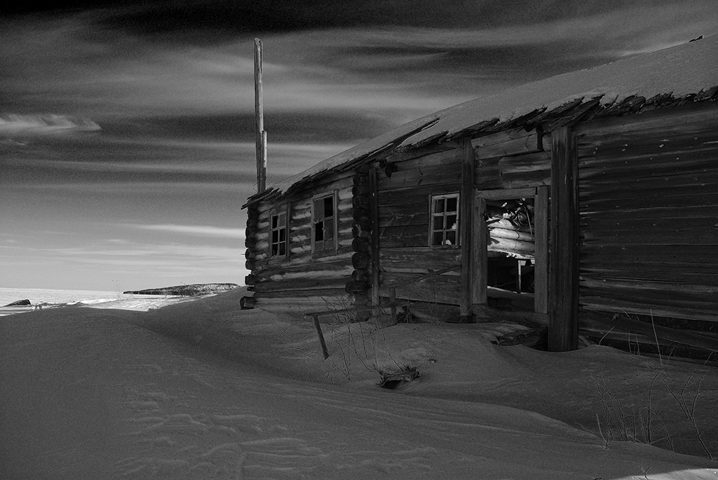 "photo ""Once..."" tags: black&white, architecture, landscape,"