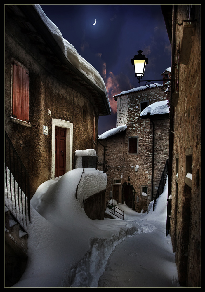 "photo ""Snowy night"" tags: landscape, winter"