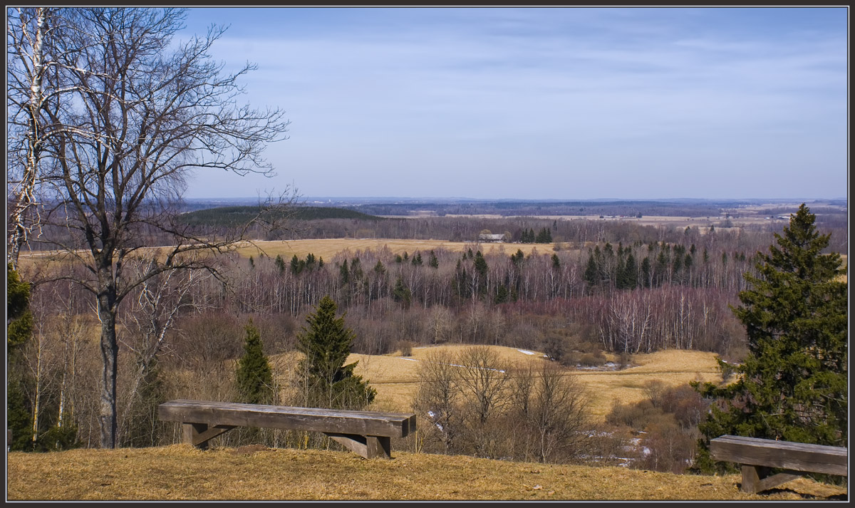 """photo """"...how far you can see  in the spring..."""" tags: landscape, spring"""