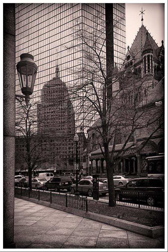 """photo """"Trinity Church, Boston"""" tags: architecture, city, landscape,"""