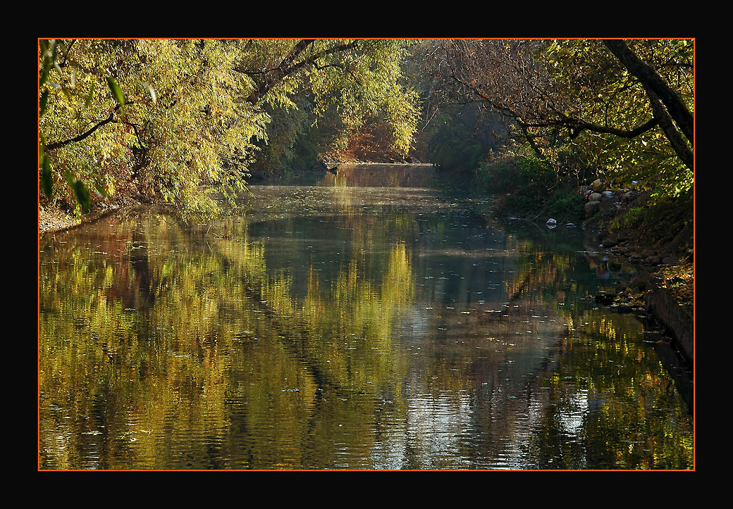 """photo """"Impressions of a Golden Fall"""" tags: landscape, autumn, water"""