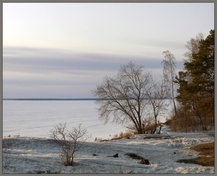 "photo ""Cold Spring. Evening."" tags: landscape, spring, sunset"