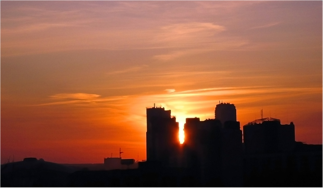 """photo """"Where does the sun sleep"""" tags: city,"""