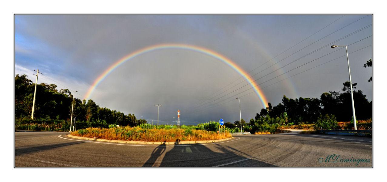 """фото """"Full rainbow"""" метки: пейзаж, панорама, облака"""