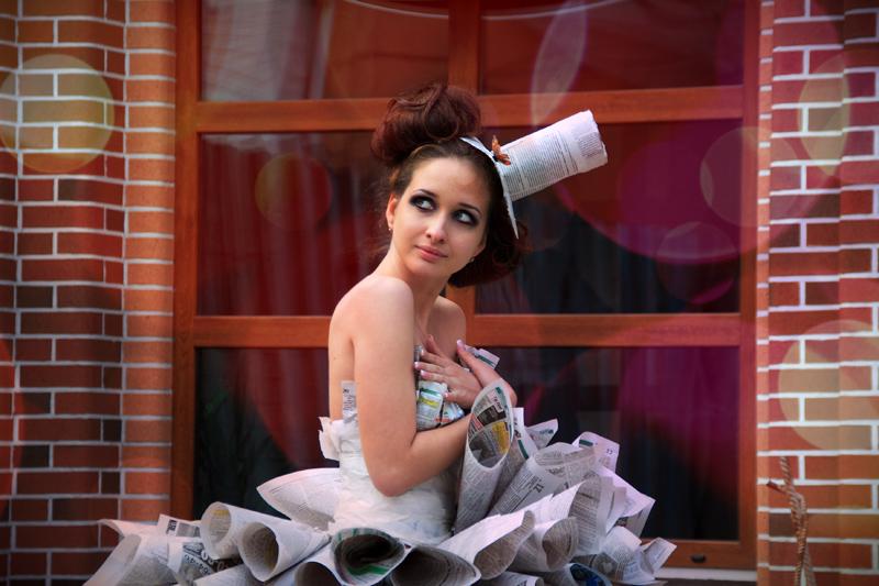"""фото """"Paper dress"""" метки: портрет, женщина"""