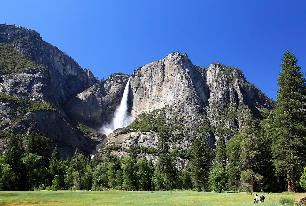 "photo ""Paysage with waterfall"" tags: landscape, travel, North America, mountains"