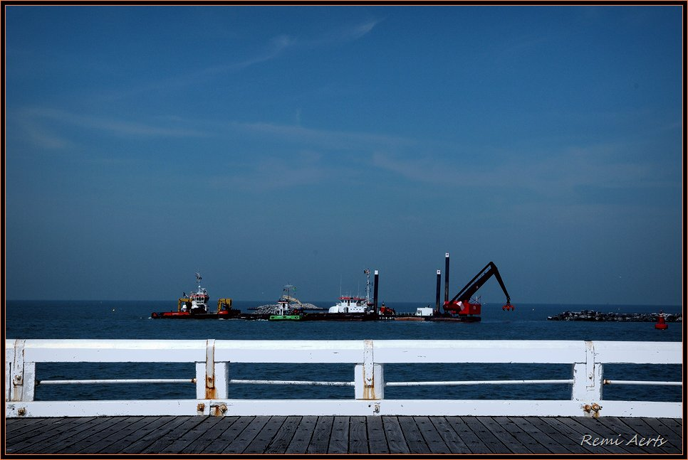 "фото ""Ostend Pier"" метки: пейзаж, вода, лето"
