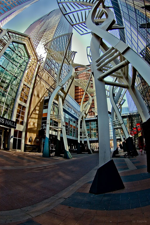 "photo ""Calgary 8th Ave"" tags: architecture, travel, landscape, North America"