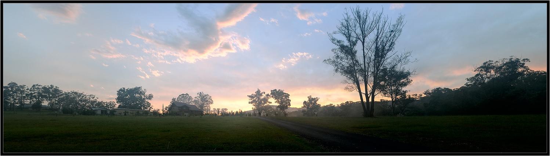 """photo """"Fazenda"""" tags: landscape, panoramic, sunset"""