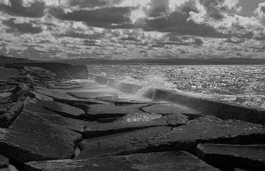 "photo ""Sakhalin"" tags: landscape, black&white, water"