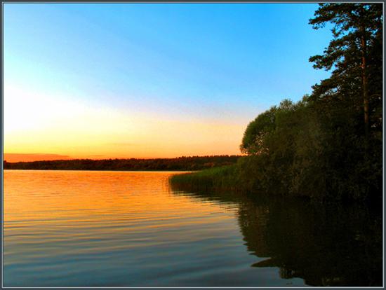 """фото """"На закате"""" метки: пейзаж, вода"""