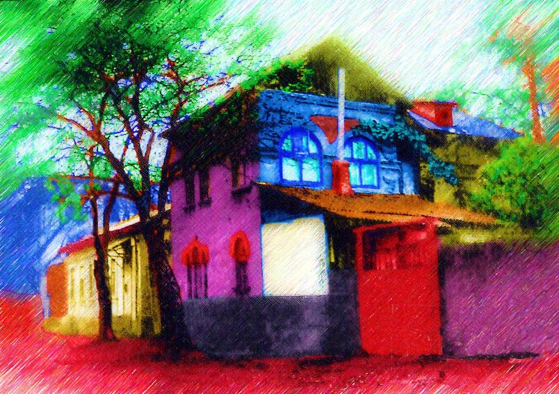 "photo ""That strange House"" tags: architecture, landscape,"