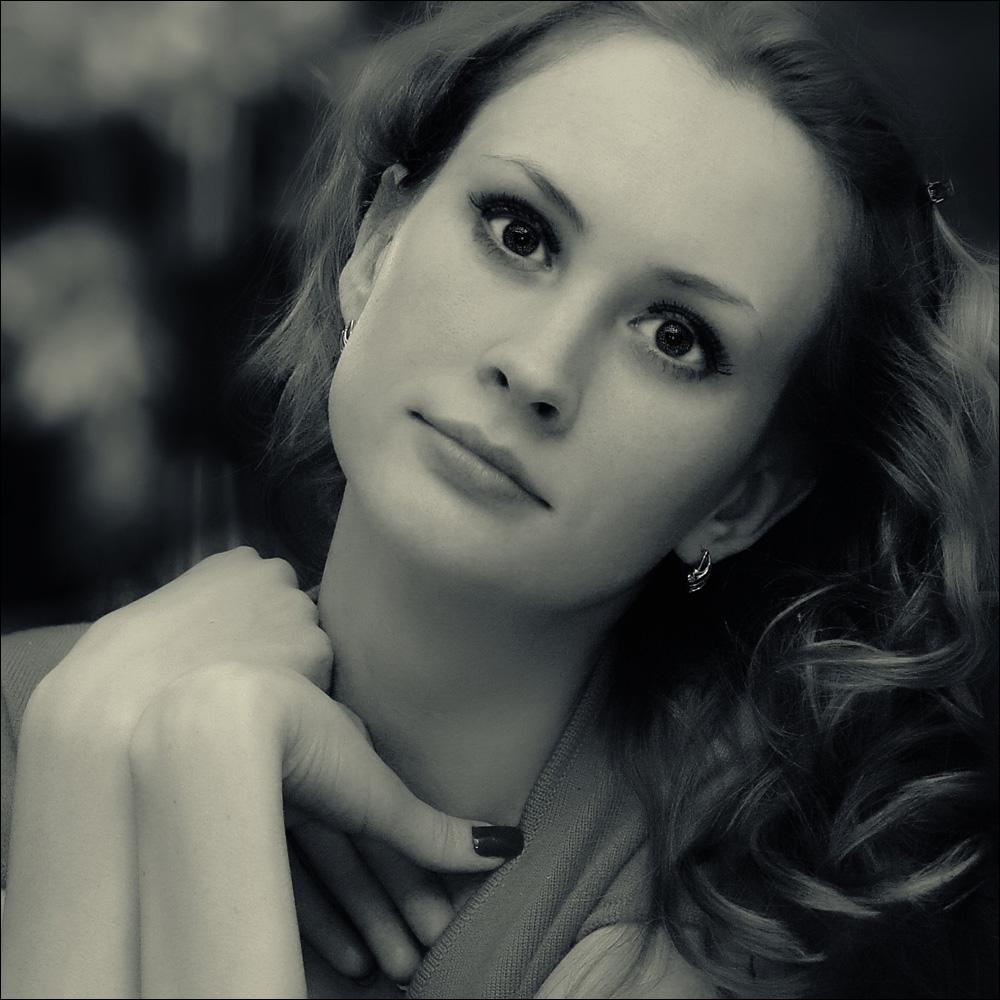 "фото ""B&W mood"" метки: портрет, черно-белые, женщина"