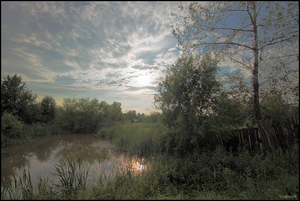 "фото ""Огород"" метки: пейзаж, облака"
