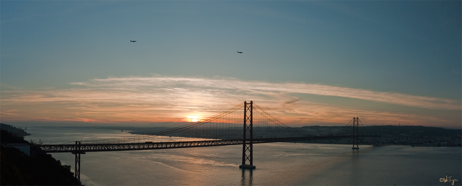 "photo ""Sunset over the Tagus"" tags: landscape, panoramic, sunset"