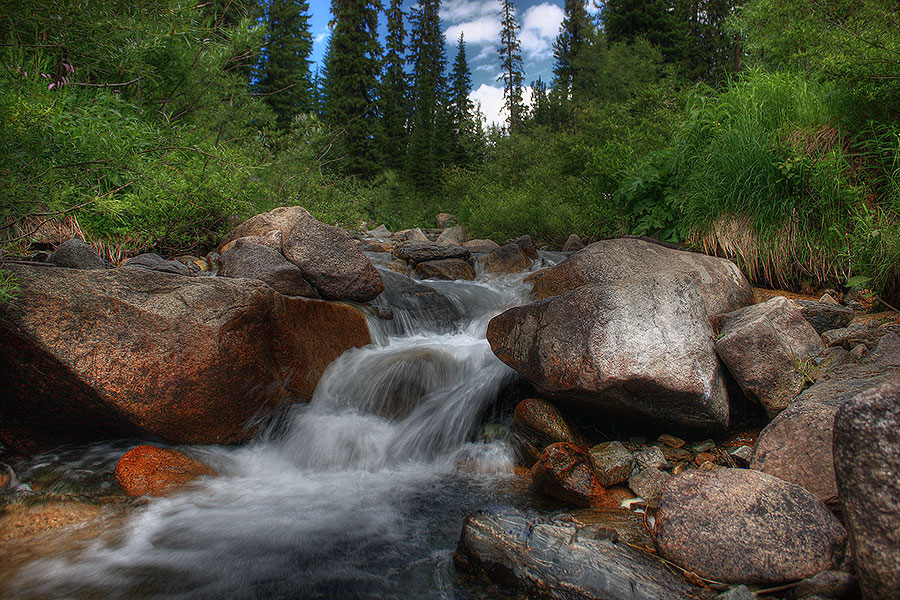 "photo ""Mountain stream"" tags: landscape, mountains, water"