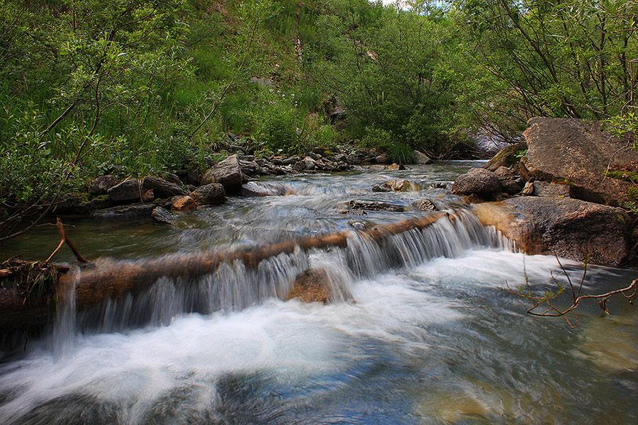 """фото """"Горный ручей-Ергаки"""" метки: пейзаж, вода, горы"""